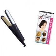 Style Maniac Ceramic Hair straightener With Variable Heat Control SM-NHC-482 With an attractive freebie hairstyle bookl