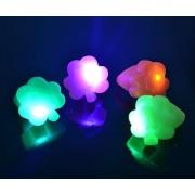24ct Box Led Colorful Shamrocks Lot Of Light Up Flashing Rings