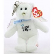Ty Educational Products - TY Beanie Baby - BRAVO the Angel Flight Bear ( Metal Key Clip - Australian Exclusive ) - Official product from Ty's wildly popular Beanie Babies Collection