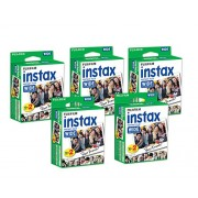 Fujifilm Instax Wide Film for Fuji Instant Film Camera 5 Pack Twin Pack of Instax Films(total 100 Sheets)