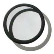 DEMCiflex Round Dust Filter 200mm - Nero/Nero