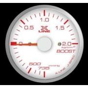 Manometro Pressione Turbo STRI - 52 mm Fondo Bianco