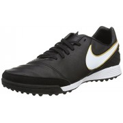 Nike Tiempo Mystic V TF, Botas de Fútbol Para Hombre, Negro / Blanco / Dorado (Black / White-Metallic Gold)