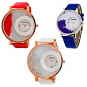 CREATOR Half Moon Style Official Gift Watches (units 3) For Women