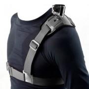 Mobilegear Adjustable Shoulder Strap Mount Chest Harness Belt Adapter For GoPro Hero 4/3+/Hero3/Hero2/SJCAM SJ4000 SJ5000 & other Action Cameras
