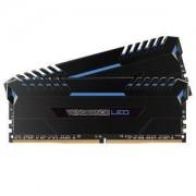 Memoire RAM Corsair Vengeance LED Series 32 Go (2x 16 Go) DDR4 3200 MHz CL16 - Bleu - Kit Dual Channel 2 barrettes de RAM DDR4 PC4-25600 - CMU32GX4M2C3200C16B