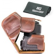 MegaGear Ever Ready Protective Leather Camera Case Bag for Canon PowerShot G3 X G3X Digital Camera (Dark Brown)