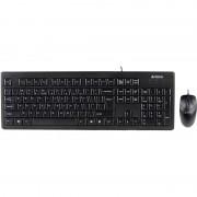 Kit tastatura+mouse USB A4TECH, black (KRS-8372-USB), tastatura wired cu 104 taste si mouse wired cu 3 butoane si 1 rotita scroll, rezolutie sub 1000dpi