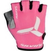Copii ciclism manusi Silvini echipă UA405 întuneric roz