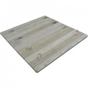 Heavy Duty Wooden Lid for 1m x 1m Sand Pit
