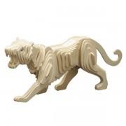 Puzzle eco 3D din lemn Tigru Pebaro