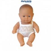 Miniland - Baby european (fata) Papusa 21cm