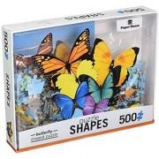 Paper House Jigsaw Shaped Puzzle (500-Piece) 17 X 23 Butterflies