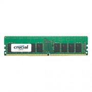 Crucial CT4G4RFS824A Memoria RAM da 4 GB, DDR4, 2400 MHz, ECC R, Nero