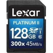 Card de memorie Lexar SDXC Platinum II 300x 128GB, UHS-I, 45MB/s (Clasa 10)