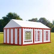 Intent24 3x6m tente de réception, PVC, H. 2m, rouge-blanc