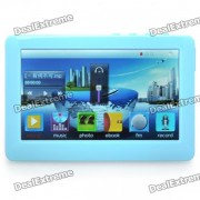 """""""Portable 4.3"""""""" Touch Screen Multi-Media Player w/ FM / 3.5mm Jack / TV-Out / TF Slot - Blue (4GB)"""""""