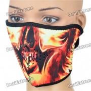 Ghost Rider Estilo de cara al aire libre Mascara escudo protector para ciclistas / Montanismo