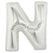 Balon folie mare litera N argintiu - 86cm, Northstar Balloons 00209
