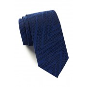 HUGO BOSS Silk Solid Geo Texture Tie DARK BLUE