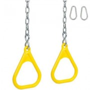 Swing Set Stuff Trapeze Rings with Chains SSS-0031 Color: Yellow