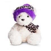 Aurora World Ltd Wina Wagner Orso con il cappello viola leopardo stampare Aurora Wina World Ltd Wagner Orso con cappello viola stampa leopardo 9in