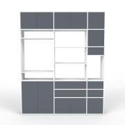 Wohnwand Weiß, MDF, 190 x 233 x 35
