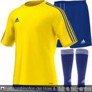 adidas Trikotsatz (10 Sets) ESTRO 15 - yellow/blue | Kurzarm Junior