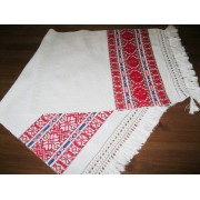 Antique hand woven traditional towel, decorative textile from Western Transylvania - 2