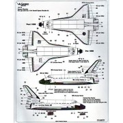 WBD14405 1:144 Warbird Decals - Space Shuttle (for use with the Revell model kit) DECAL SHEET