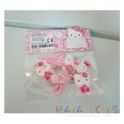 Комплект фиби с ластици Кити Hello Kitty