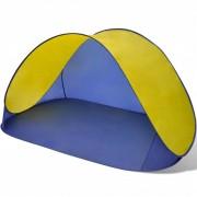 vidaXL Сгъваема плажна палатка, водоустойчива, жълта