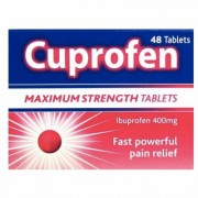 Cuprofen Ibuprofen 400mg Maximum Strength 48 Tablets