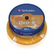 DVD-R 16x Verbatim Matt Silver Azo Tarrina 25 uds