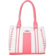 FD Fashion Shoulder Bag(White &pink, 5 L)