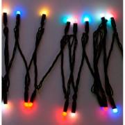Гирлянда Огоньки 40 LED, цветное свечение, черный провод