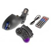 MP3 FM transmitter s diaľkovým ovládačom + ovládaním na volant