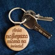 MyGiftDna Najlepsza mama - Brelok drewniany - Drewniany brelok