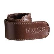 Brooks byxband i brun läder 1 stk.