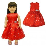 Doll Clothes - Beautiful Red Dress with Dots Outfit Fits American Girl Dolls, Madame Alexander and other 18 inches Dolls by American House of Dolls
