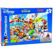 Clementoni 25410 - Mickey: The Airport Floor Puzzle, 40 Pezzi