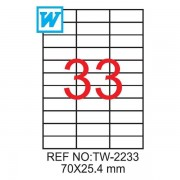 Etichete A4 , 70 x 25,4 mm , Set 100 buc