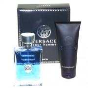 Versace Pour Homme 100Ml Edt 100Ml + 100Ml Docciaschiuma Per Uomo (Eau De Toilette)