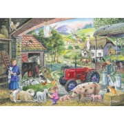 1000 Piece Jigsaw Puzzle - Find the Differences No.2 - 'On the Farm' by The House of Puzzles