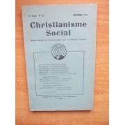 Christianisme Social 55 È Année N° 11, Décembre 1947 Revue Sociale Et Internatioanale Pour Un Monde Chrétien