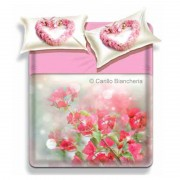 Completo lenzuola in cotone Biancaluna Art. Corner matrimoniale H612