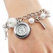 Mulheres Relógio de Moda Quartz Lega Banda Pérolas / Pendente Branco marca-