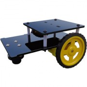 Multipurpose Double Layer Robotic Chassis with motors and wheels II acrylic robotic platform with high speed motor set