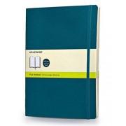 Moleskine Classic Colored Notebook, Extra Large, Plain, Underwater Blue