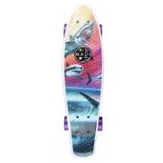 Maui and Sons Printed PU Kicktail Wave Predators Micro-Cruiser Skateboard